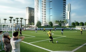 Soccer field preconstruction Paramount Miami