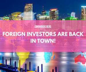 Foreign investors are back in town!