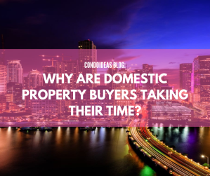 Why are domestic property buyers taking their time?